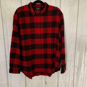 Madewell Oversize Button Front Boyfriend Shirt XL